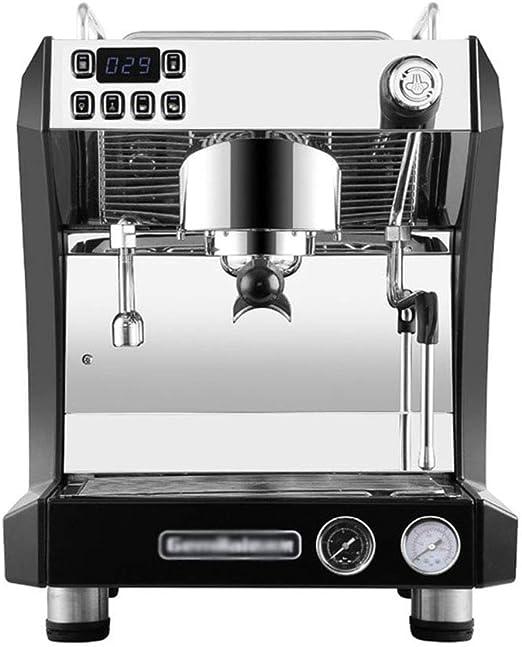 Cafetera Máquina de café Comercial-Semi automática de la Bomba de Vapor Italiana Cafetería Internet Cafe: Amazon.es: Hogar