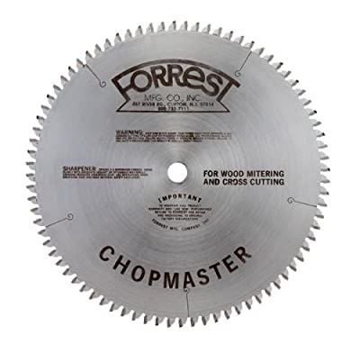 Forrest CM151006100 Chopmaster 15-Inch 100 Tooth ATB Miter Saw Blade with 1-Inch Arbor