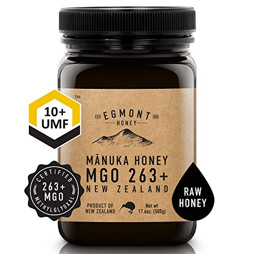 EGMONT HONEY Manuka Honey MGO 263+ UMF 10+ 17.6oz 100% Natural Non-GMO Ethically Sourced Superior Flavour Superfood from Sustainable Bee Hives in the Remote Manuka Forests of New Zealand