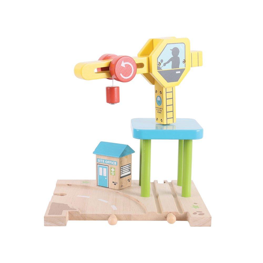 Bigjigs Rail Magnetic Crane - Other Major Wooden Rail Brands are Compatible Bigjigs Toys
