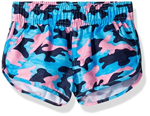 Kanu Surf Little Girls' Sandy UPF 50+ Quick Dry Beach Elastic Waist Boardshort, Erin Navy Camo, X-Large (6X)