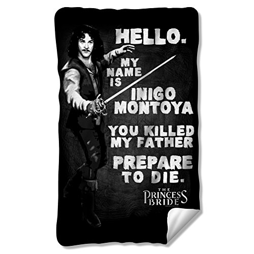 The Princess Bride Hello Again Fleece Blanket Multi Color