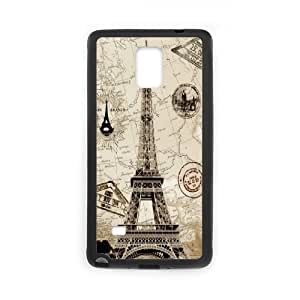 DIY Printed Eiffel Tower hard plastic case skin cover For Samsung Galaxy Note 4 N9100 SN9V892643