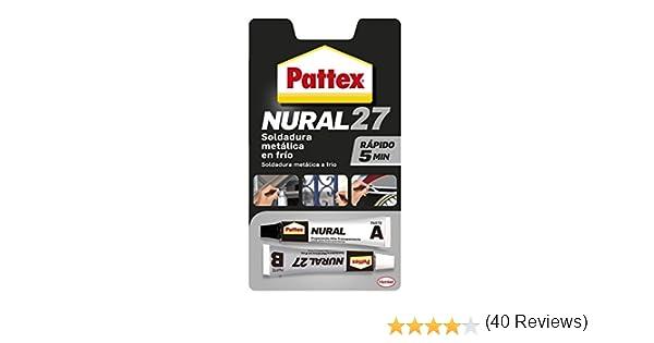 Pattex Nural 27, soldadura metálica reparadora en frío con secado rápido, 22ml: Amazon.es: Bricolaje y herramientas
