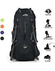 Huwaijianfeng Hiking Backpack 50L Waterproof Backpack Outdoor Sport Daypack with a Rain Cover for Climbing Mountaineering...