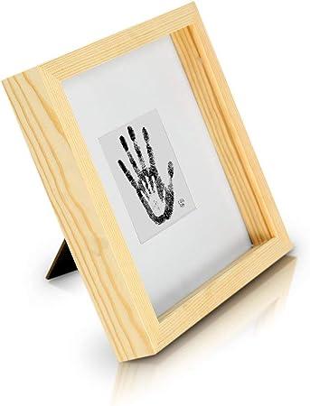 Marco de Fotos tipo Caja de 23 x 23 cm con Paspartú para foto de 10