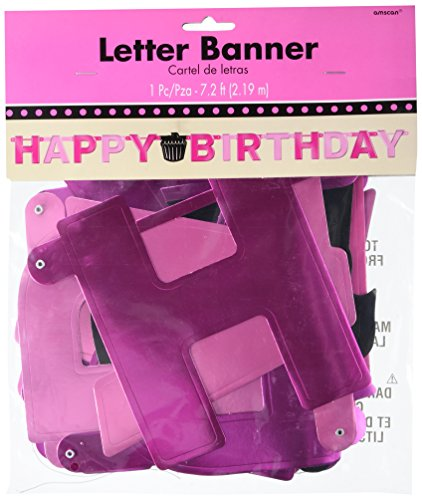 Adult Birthday Party Large Foil Letter Banner, 1 Piece, Made from Foil, Birthday, 7 feet by (Out Of Africa Costumes Ideas)