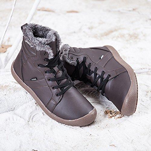 Stivaletti Impermeabile Scarpe Boots High Aitaobao Sneaker Caldo Stringate Uomo Marrone Donna Pelliccia Top Neve Caviglia ItaqA5Pq