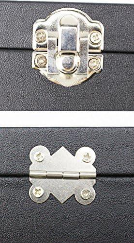 【narunaru】 ガラス蓋 ジュエリー ボックス 大容量 (ネックレス)