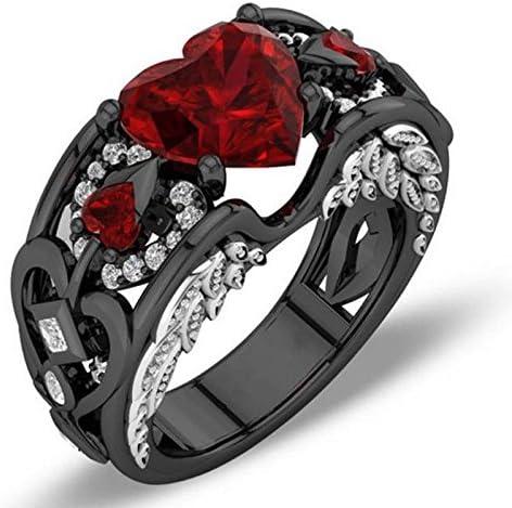 Amazon Com Odysseyy Heart Red Ruby Angel Wings Ring Black Gold