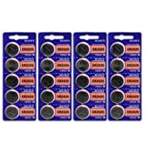 Sony CR2025 3 Volt Lithium Manganese Dioxide Batteries, Genuine Sony Blister Packaging (20 Pieces) by USA
