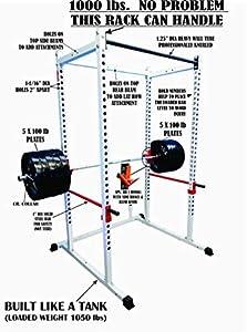 TDS Mega 1000 lb Rated White Power Squat Rack
