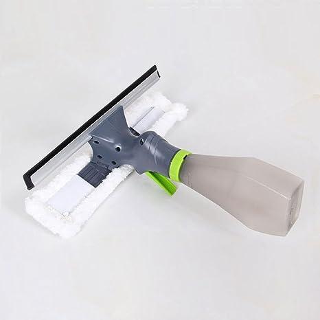 Awhao Limpiador de ventanas multifuncional con spray de agua para limpiaparabrisas de doble cara
