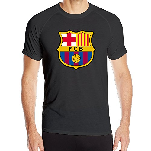 PTR Men's HyperDri Barcelona Logo Sports Jersey T-Shirt Size L Black (How To Make An Assassins Creed Costume)