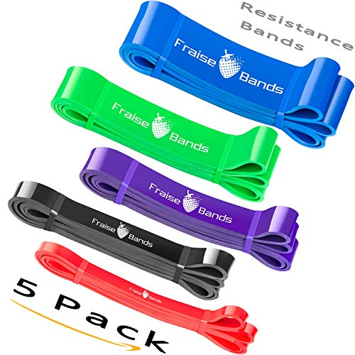 Resistance Bands Set - Pack of 9 - Heavy Duty Exercise Bands Stretch Set   Booty Bands for Legs and Glutes   Workout Gym Bands for Excersize / Muscle Building   Butt Shape Bands with Carry Bag (Best Butt Building Exercises)