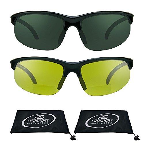 Semi Rimless blue blocker HD Vision bifocal sunglasses (HD + Yellow Combo, - Sunglasses Gps