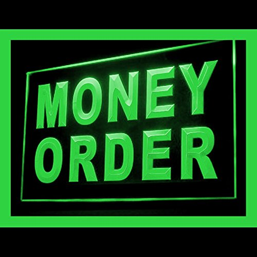 Money Order Shop Domestic Pre-specified Sales Lure Postal LED Light Sign 190101 Color Green by Easesign