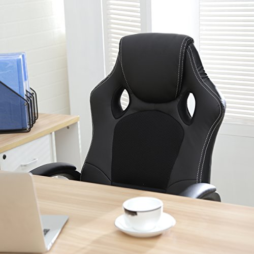 style office chair pu leather race high back swivel seat computer desk