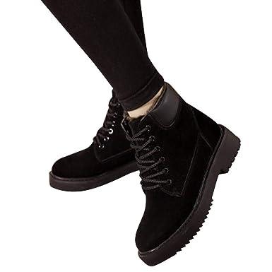 Viernes Negro JiaMeng Zapatos Cuadrado Casual de Botas de Mujer Botines de Moda Más Terciopelo Botas de Nieve Planas con cuña Alta: Amazon.es: Ropa y ...