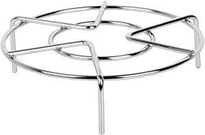 "Stainless Steel Steaming Rack Stand Cooking Ware Steamer Rack Trivet for 5 Quart 6 Quart Instant Pot (6"" x 1.9"")"