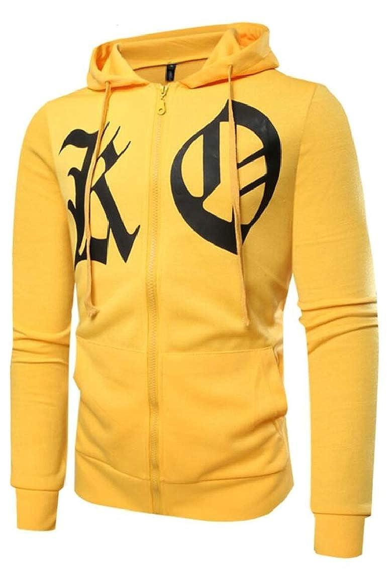 Yayu Mens Leisure Hoodies Hooded Zipper Workout Running Sweatshirt Jackets