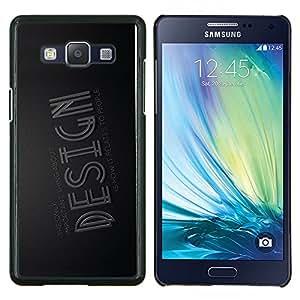 """Be-Star Único Patrón Plástico Duro Fundas Cover Cubre Hard Case Cover Para Samsung Galaxy A5 / SM-A500 ( Diseño de la tipografía"""" )"""