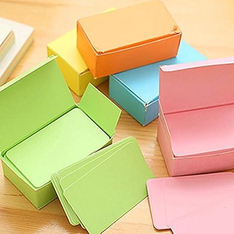 Demarkt Wort Karten Memory Karten Blank Karten Nachricht Karte Kraftkarton Tischkarten Orange