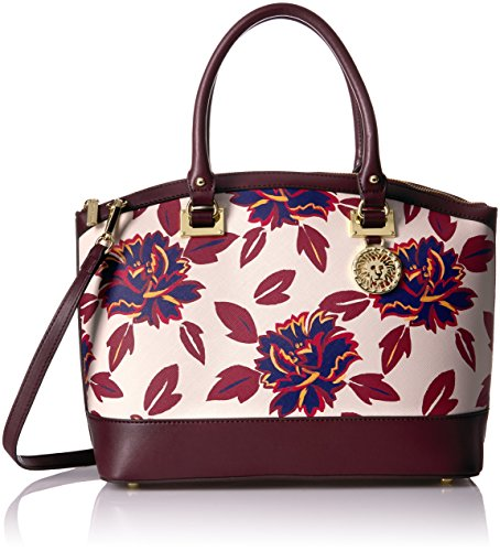 Anne Klein New Recruits Large Dome Satchel, Ruby Multi/Port