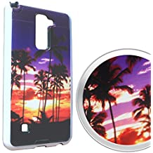 LG G Stylo 2 Plus Case, HJ Power[TM] For LG G Stylo 2 Plus / MS550 (MetroPCS)--3DBC HYBRID TPU Hard Image Case Sunset Beach