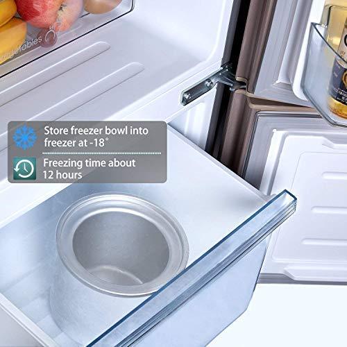 Aicok maquina helado 1.5L, helado bajo consumo de energía con ...