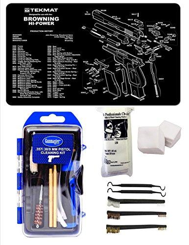GunMaster 9MM Caliber Browning Hi Power Tekmat & 21 Pc Gu...
