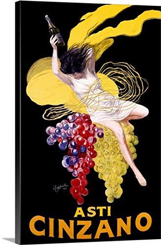 Wrap Canvas Wall Art Print entitled Cinzano Asti Aperitif Wine Vintage