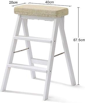 SED Escaleras de tijera multiusos Escalera Taburete con peldaños Reposapiés portátil Taburete plegable de madera Escalera antideslizante Taburete: Amazon.es: Bricolaje y herramientas