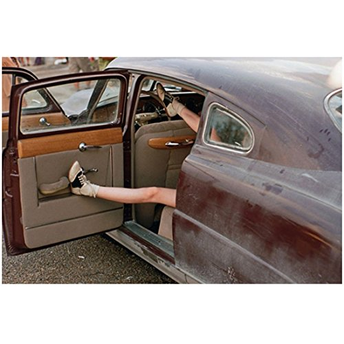 On the Road 8Inch x 10Inch Photo Female Legs w/Saddles Shoes on Feet Sticking Out of Car kn