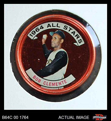 1964 Topps Coins # 150 All-Star Roberto Clemente Pittsburgh Pirates (Baseball Card) Dean's Cards 3 - VG Pirates
