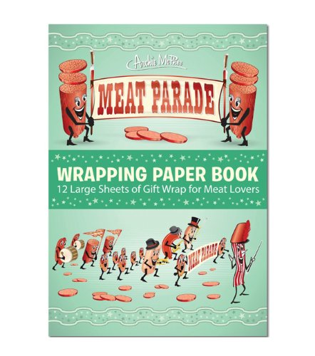 Archie McPhee Accoutrements Meat Parade Wrapping Paper Book