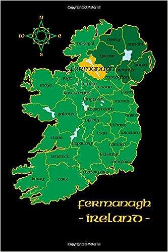 Map Of Ireland Counties In Irish.Tyrone Ireland County Map Irish Travel Journal Northern Ireland 6 X