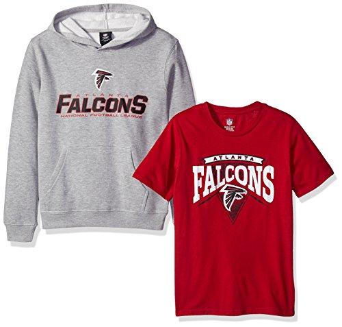 (NFL Youth Boys 8-20  Tee & Hoodie Set, Medium (10-12), Assorted Colors)