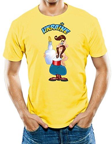 Universal Apparel Men's Ukrainian Kozak With Vodka T-Shirt Large (Ukrainian Vodka)