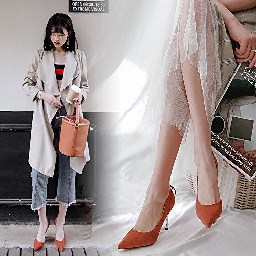 Chaussures Avec Telles Ultra Femmes minces 39 Que Sauvages Orange Rouge Sauvages Latraux Les Bouts Pour 1pdnqq8