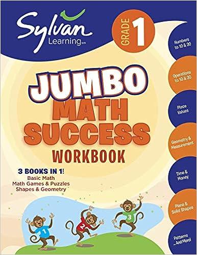 1st Grade Jumbo Math Success Workbook Activities Exercises