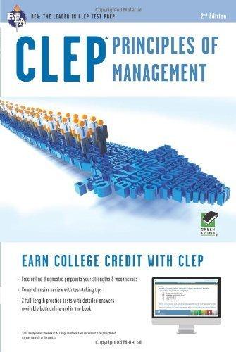 CLEP® Principles of Management Book + Online (CLEP Test Preparation) by Dr. John R Ogilvie Ph.D. (2012-12-17)