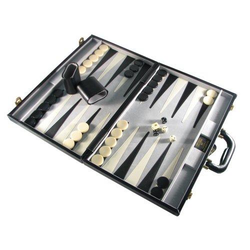 Backgammon 18' Set (18'' Genuine Leather Attache Backgammon Set)