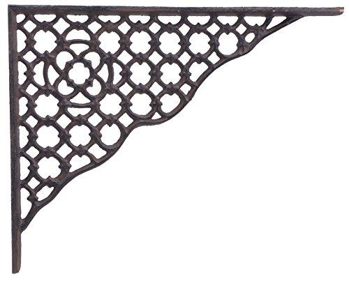 - Decorative Shelf Bracket Brace Ornate Lattice Rust Brown Cast Iron 11.625