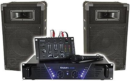 Ibiza dj-300/Kit di amplificazione da discoteca 480/W roundmagic lytor