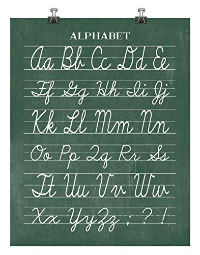 cursive poster alphabet