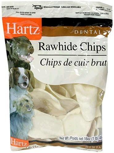 Hartz Dental Rawhide Chip for Pet Dog Treat Quantity 1-lb, Flavor Natural