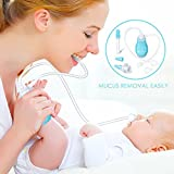MARNUR Baby Nasal Aspirator Snotsucker Mucus Removal with 2 Mouth Suction Tips and 2 Hand Suction Tips, Additional Medicine Feeder for Newborn Infant