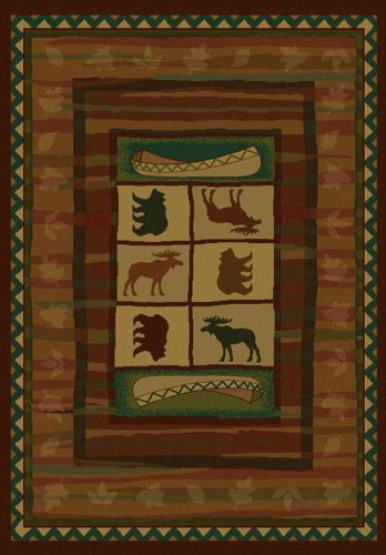 United Weavers of America Genesis Collection Hearthstone Heavyweight Heat Set Olefin Rug, 1-Feet 10-Inch by 3-Feet, ()