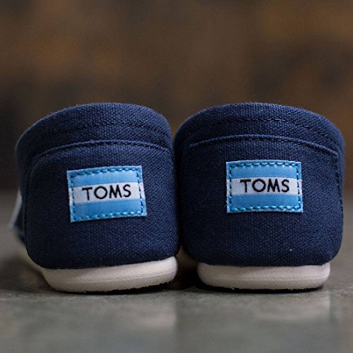Toms Womens Classics Slip Ons Navy Canvas Womens 8